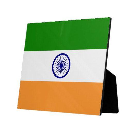 Flag Of India Plaque Zazzle Com Custom Displays Personalized Custom Flag