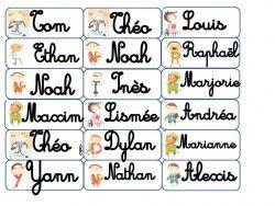Etiquettes pour affichages etiquettes prenoms pinterest - Etiquette prenom a imprimer ...