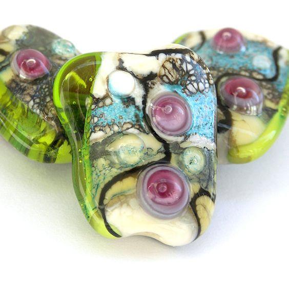 Dream of Spring - Handmade Lampwork Glass Bead Set