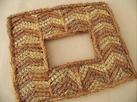 Zig zag wheat frame