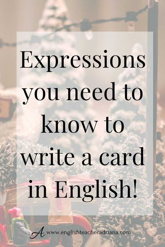 How To Write A Christmas Card Writing English Teaching English