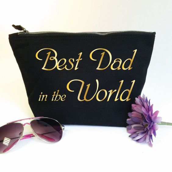 Best Dad in the World Wash Bag. Toiletry Bag. Cosmetics Bag. Accessory Bag. Fathers Day Gift. Gift for Dad. Birthday Gift. Number 1 Dad by SoPinkUK on Etsy