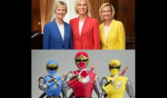 La réponse amusante de la nouvelle Présidence de la Primaire en voyant une photo d'elles en Power Rangers