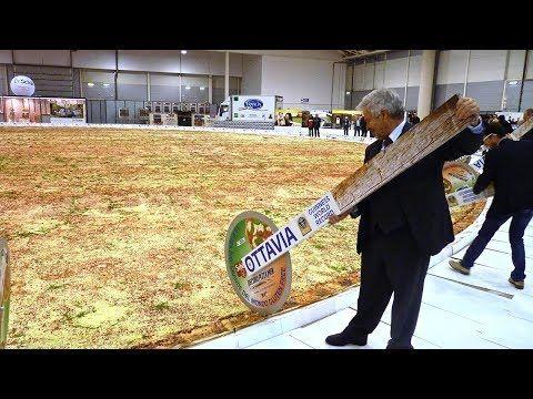 163 La Pizza Más Grande Del Mundo Comidas Que Rompen Todos Los Récords Youtube Maior Pizza Do Mundo Pizza Mundo