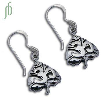 Om Bodhi Leaf Earrings
