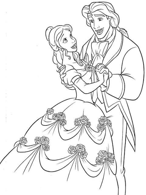 Omi Sengupta I Will Draw Beautiful Coloring Book Page For Kids For 5 On Fiverr Com In 2021 Disney Coloring Pages Belle Coloring Pages Fairy Coloring Pages