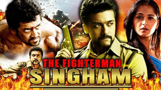hindi dubbed movies of suriya - the fighterman singham