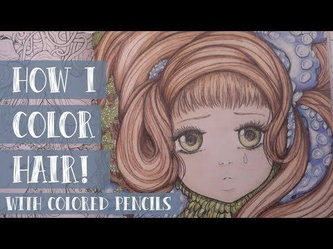 Coloring Hair And Skin With Colored Pencils In Pop Manga Coloring Book Youtube Manga Coloring Book Colored Pencils Coloring Books
