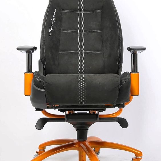 From Racechairs Com An Office Chair Made From The Seat Removed From A Lamborghini Superleggera Base Painted In Lamborghini S Pearl Orange Paint