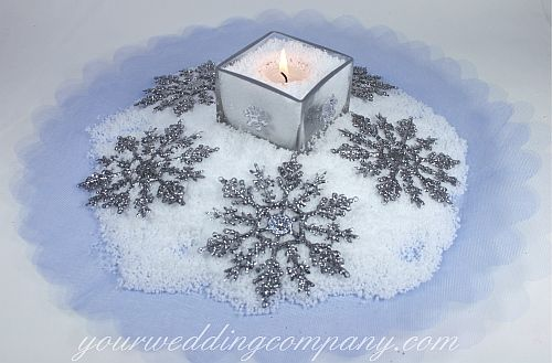 Cute snow center pieces