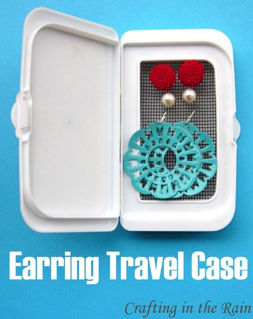 Baby Wipes turned Earring Travel Case