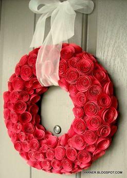 Cardstock wreath