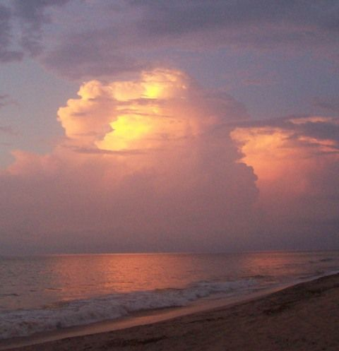 Clouds on the Pacific Coast in San Pancho.  I took the picture on the beach in front of Casa Romero.