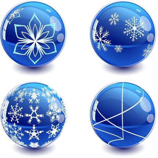 bolas de adorno navide o en color azul muy vistoso