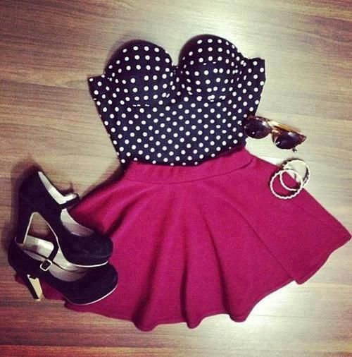 accessories, bracelet, bustier, crop, fashion, girl, girly, heels, look, ootd, outfit, skirt, sunglasses, top