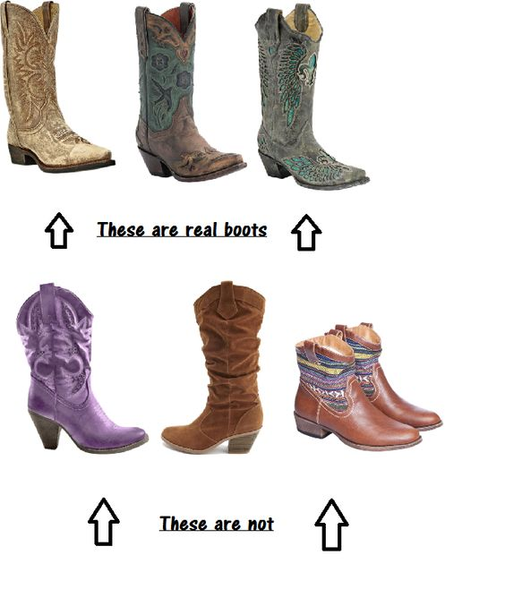 real vs fake cowboy boots! EXACTLY | Pretty in Pink, Dangerous in ...