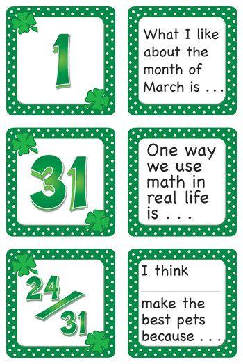 March Polka Dots Calendar Days Calendars Accessory (Set of 3)