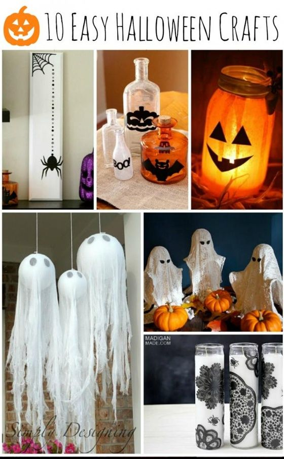 Crafts, Photo frame crafts and Easy halloween on Pinterest - how to make simple halloween decorations