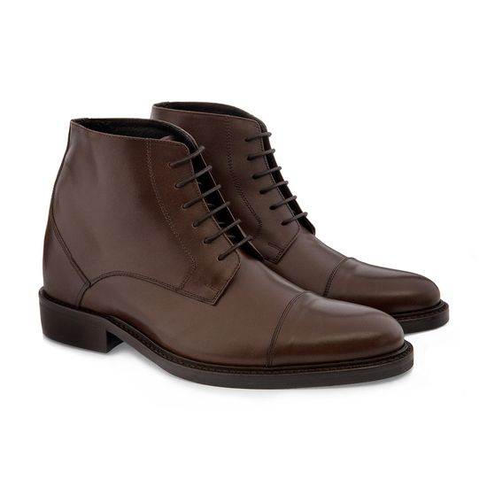 Elevator Boots - Upper in full grain leather, leather heel with special anti-slip rubber. Upper leather, outsole and midsole are sewn at sight, Hand Made in Italy. elevator shoes, height increasing shoes, tall shoes