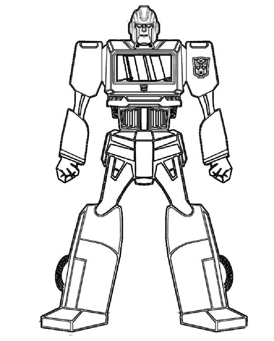 Disney Robots Coloring Pages : Ironhide robot transformers coloring for kids