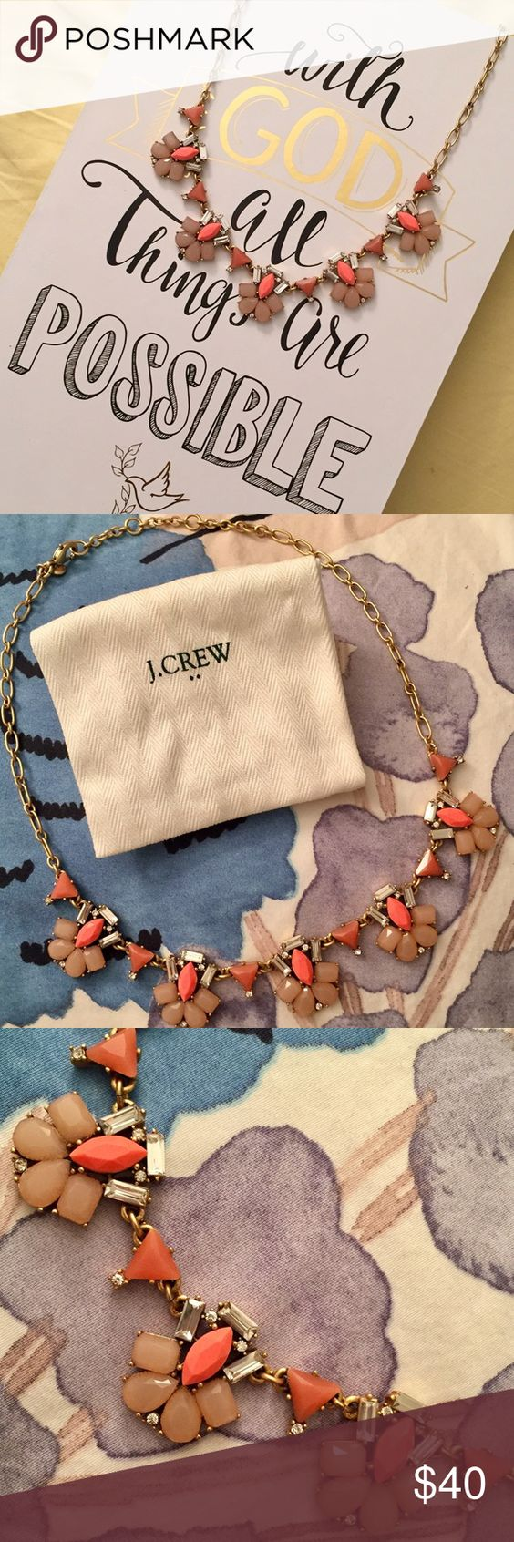 J Crew Pink Statement Necklace J Crew Pink Statement Necklace. Beautiful necklace in wonderful condition. I've only worn it a couple times. You can dress it up or dress it down. J. Crew Jewelry Necklaces