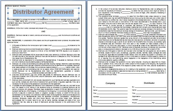A Distributor Agreement is signed between the company and the - consulting agreement