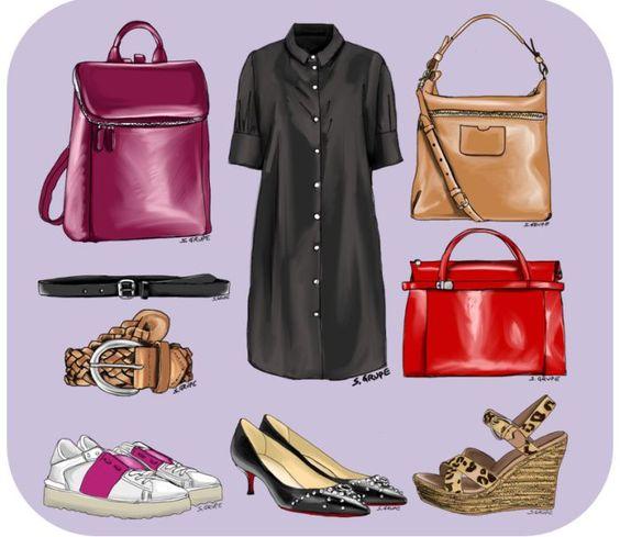 Mit welchen Gürteln, Taschen und Schuhen können Sie Ihr Blusenkleid kombinieren? Das kommt auf den Anlass und Ihren Stil an...