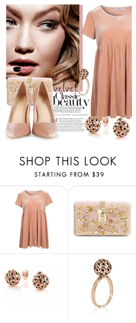 """Velvet Shoes"" by samketina ❤ liked on Polyvore featuring Glamorous, Tom Ford, Dolce&Gabbana and Sonal Bhaskaran"