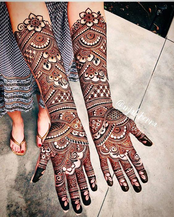 Gambar Henna Telapak Tangan