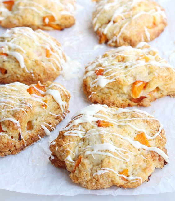 white chocolate apricot scones | Treats | Pinterest | Scones, White ...