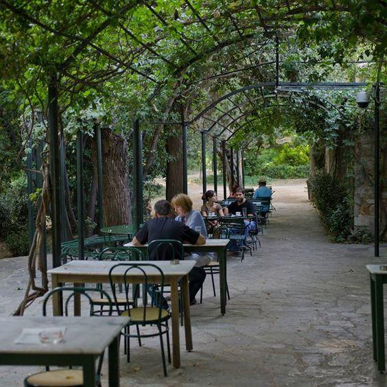 Enjoying coffee at the National Gardens