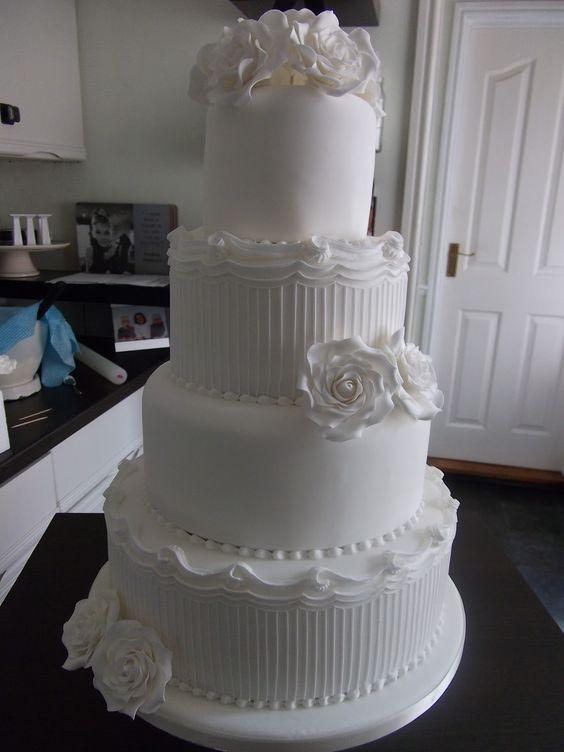 white wedding cake Wedding Cakes Pinterest Beautiful