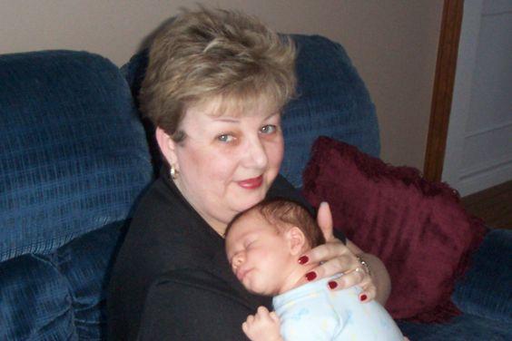 Grandma Ann holding Spencer