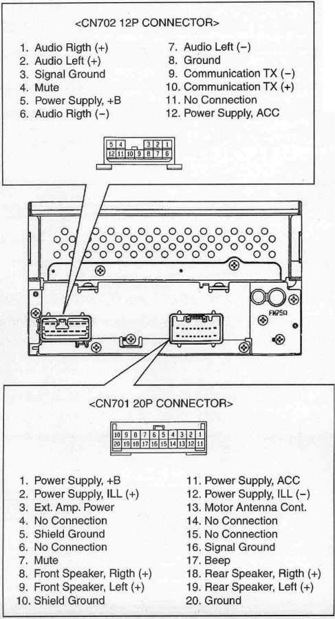 pioneer car audio wiring diagram and toyota prius speaker