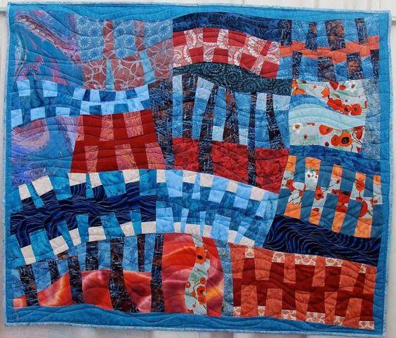 Flow by Karen Garrison, quilted by Angie Woolman