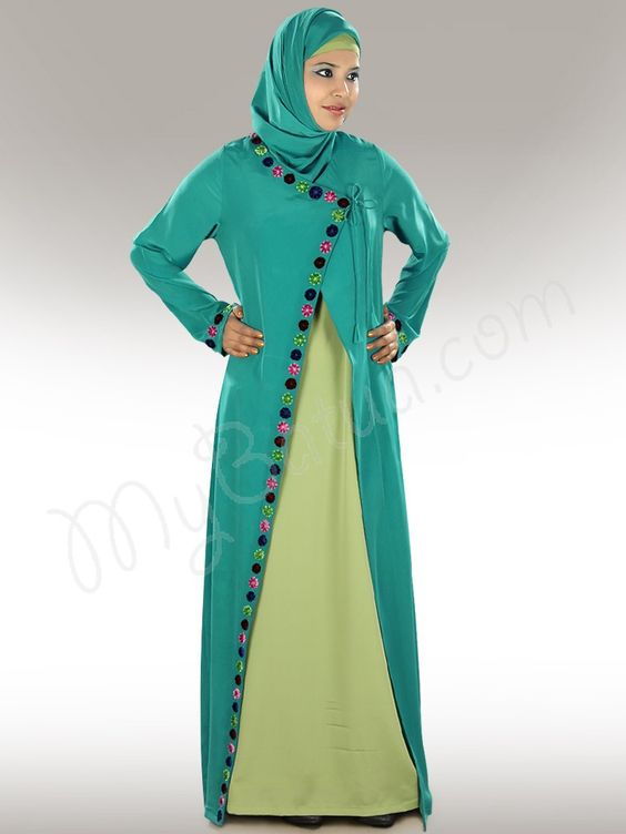 Nada Colorful Abaya Dubai, Traditional Muslim Women Clothing ...