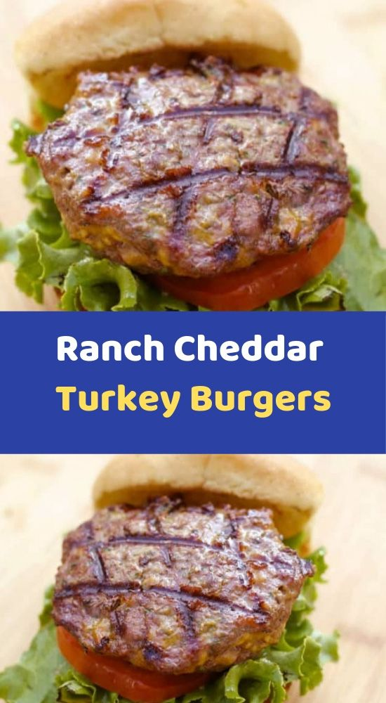 Ranch Cheddar Turkey Burgers Ingredients 1 Lb Lean Ground Turkey 1 1 Ounce Envelope Dry Ra Cube Steak Recipes Crockpot Pasta Recipes Crockpot Cube Steak