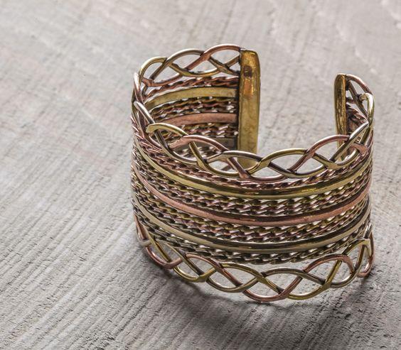 Sadie Green's Mixed Metal Braided Cuff Bracelet