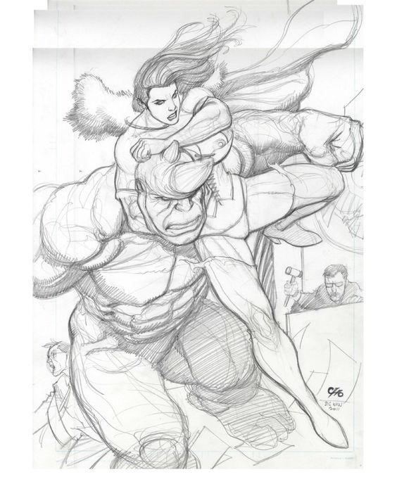 Rhino by Frank Cho Comic Art