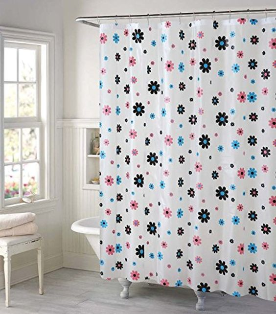 All For You 100% SAFE PEVA SHOWER CURTAIN LINER-12 HOOKS INCLUDED ...