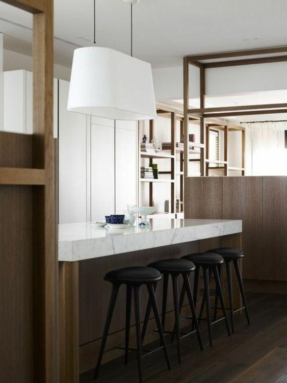 Marmor Arbeitsplatte und holz Moderne Küchen Pinterest - küchentisch aus arbeitsplatte