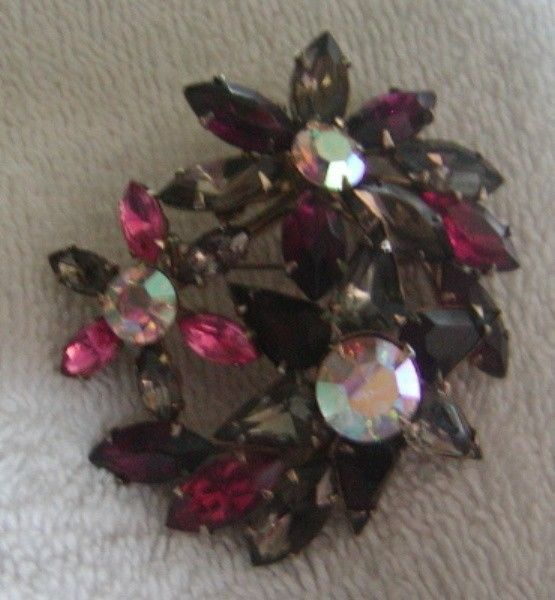 STUNNING Vintage Multi Color Pave Rhinestone Brooch Pin #Jewelry #Deal #Fashion