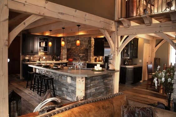timber frame kitchens - Google Search
