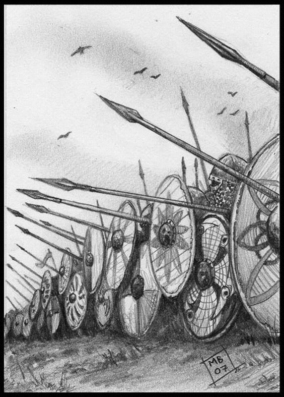 Mark Brooks - Barrera de escudos vikinga.