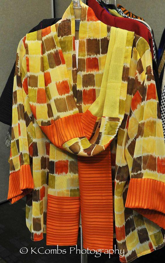 Chiffon Jacket with Infinity Scarf  $75