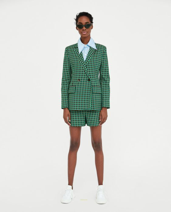 Image 1 of CHECKED BLAZER from Zara