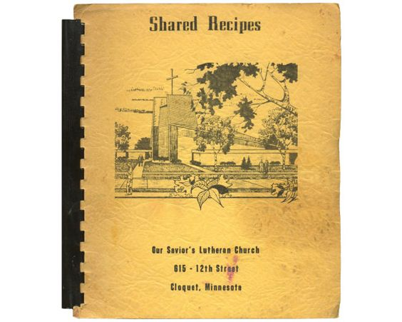 SHARED RECIPES  Lutheran  Norwegian  Cookbook  1969 by Eudaemonius