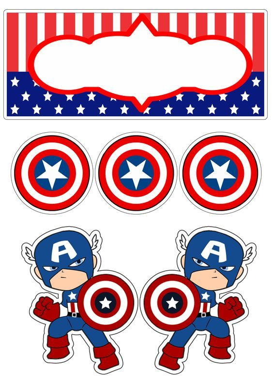 Captain America Baby Free Printable Cake And Cupcake Toppers Oh My Fiesta Fo Captain America Birthday Captain America Birthday Party Captain America Party
