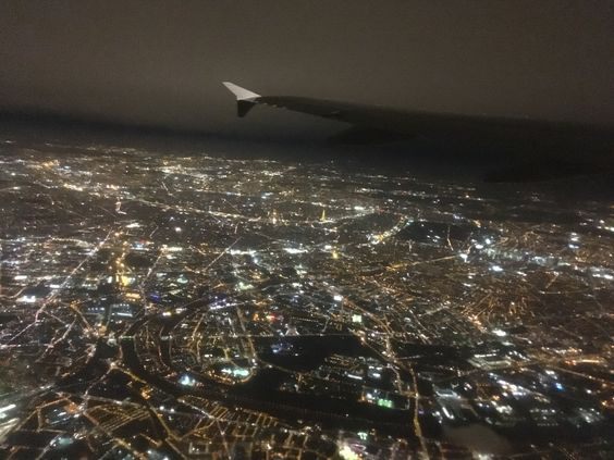 Ночной Париж под крылом