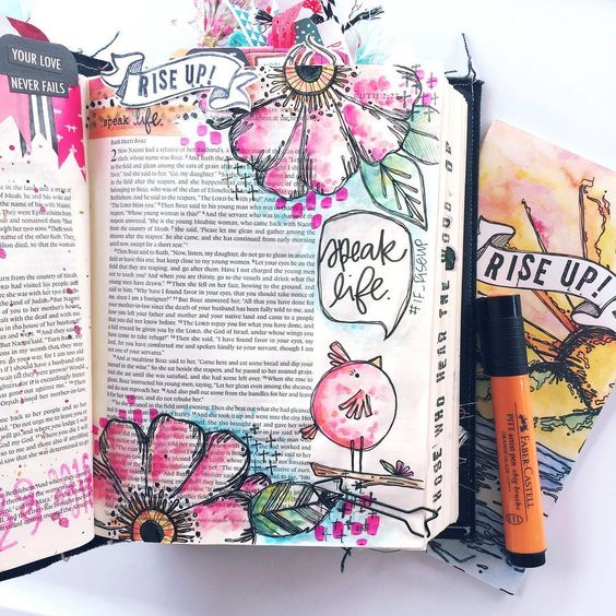 Bible Journaling Example